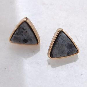 Semi-Precious Stone Bezel Set Jewel Stud Earrings